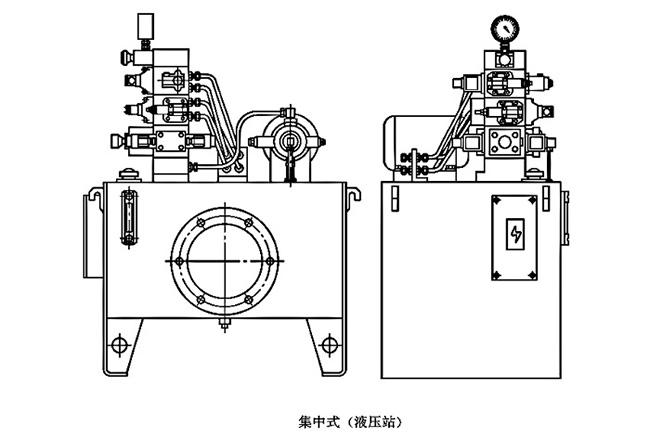 大兰液压系统布局