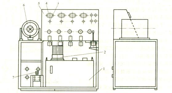 大兰液压多功能工作站外形结构示意图