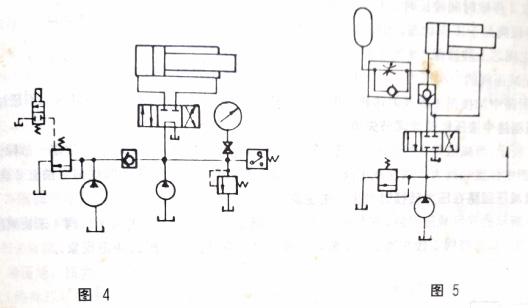 液压系统保压液压回路