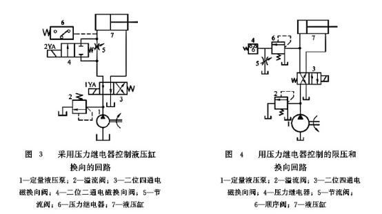 大兰液压压力继电器回路图